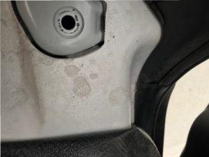 ガソリンで発泡スチロールが溶けた