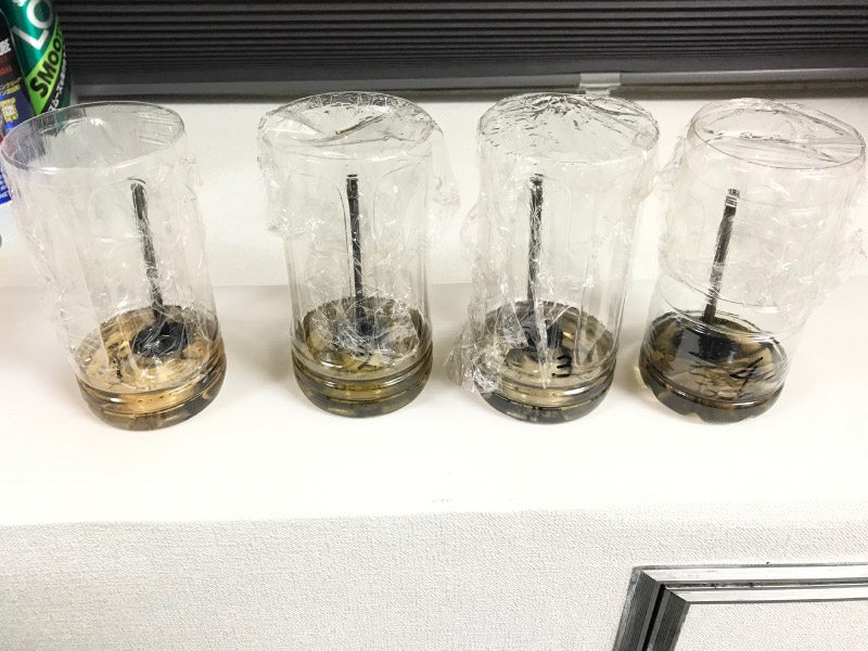 ガソリン添加剤比較の実験結果