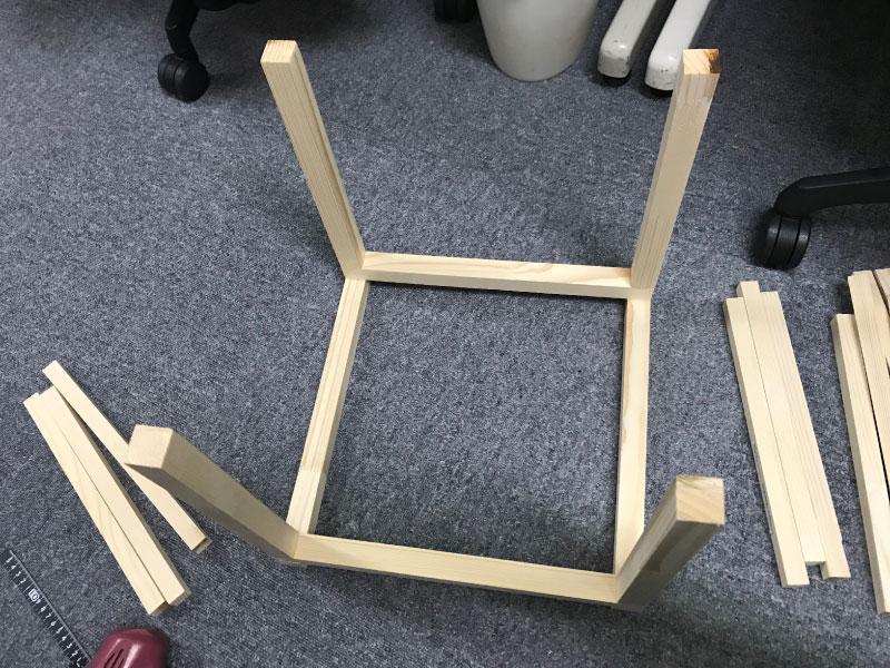 DIYで1人用こたつ組み立て2