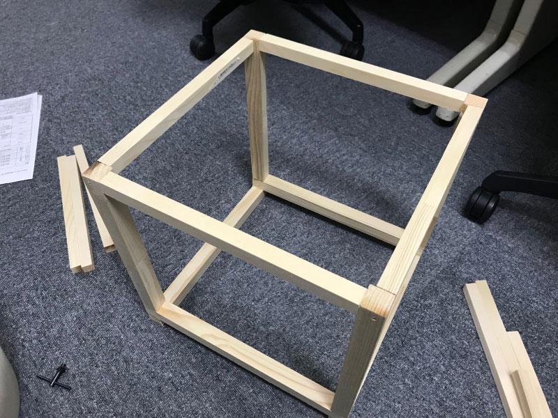DIYで1人用こたつ組み立て3