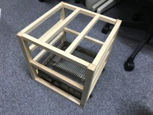DIYで1人用こたつ組み立て4