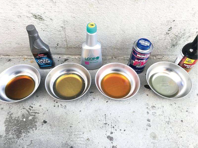 オイル添加剤 洗浄比較
