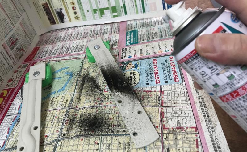 吊り戸車をDIY塗装