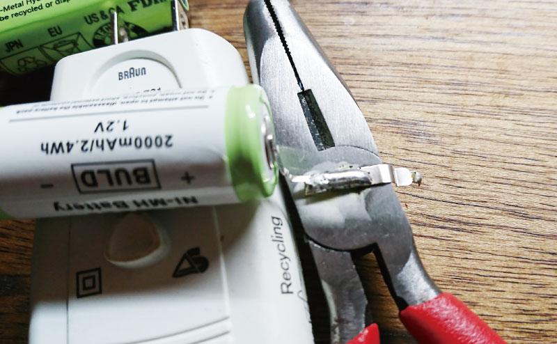 バッテリー端子を延長