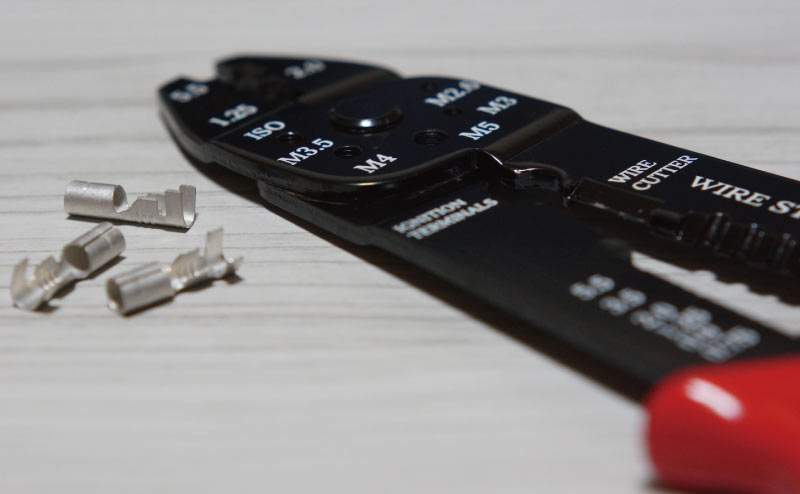電工ペンチ(圧着ペンチ)とギボシ